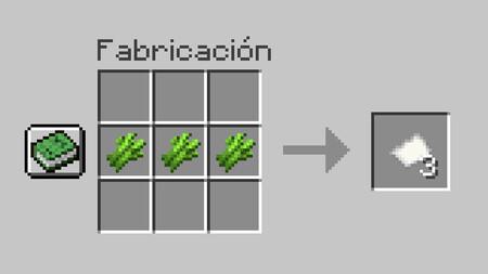 Fabricacion Papel Minecraft