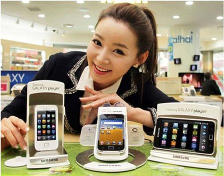 Samsung Galaxy Player: la gama entera ya se vende en Corea