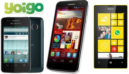 Precios Nokia Lumia 520, Alcatel One Touch Scribe HD y Alcatel One Touch S'Pop con Yoigo