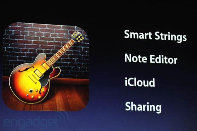 Garageband en la Keynote de Apple