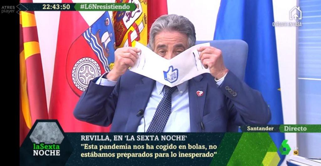 """""""Mejor que reparta anchoas"""": la polémica por las surrealistas mascarillas del gobierno de Cantabria"""