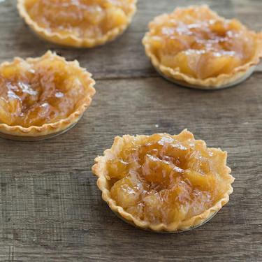 Tartaletas de compota de manzana, receta fácil y rápida