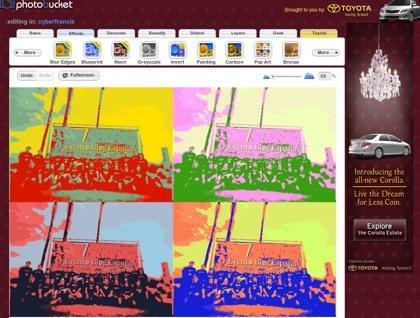 Photobucket integra a Fotoflexer para la edición de las imágenes