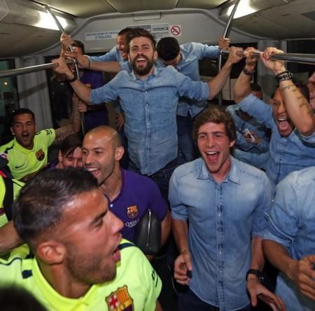 Jugadores Barsa Autobus