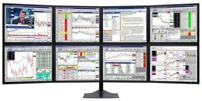 8 monitores, para trabajar bien
