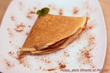 Postres fáciles y rápidos XVI: Crêpes rellenas de crema de chocolate