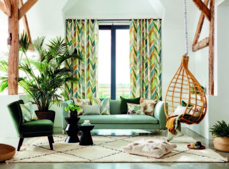 Textiles estampado tropical