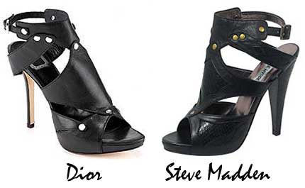 Steve Madden clona las Extreme Sandals de Dior