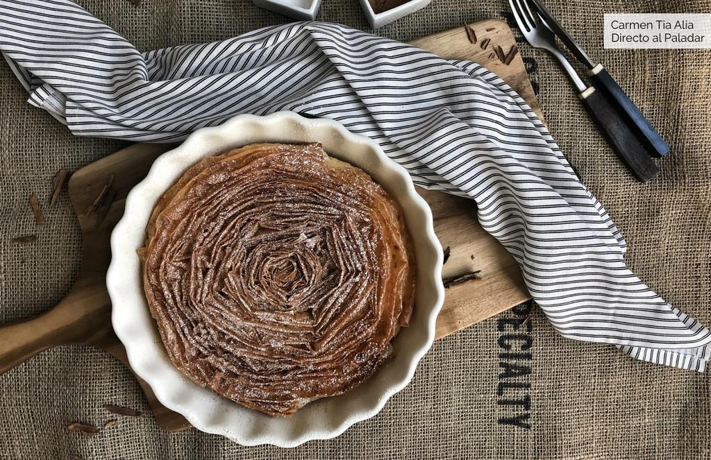Pastel de leche arrugado, receta tradicional griega (con v�deo incluido)