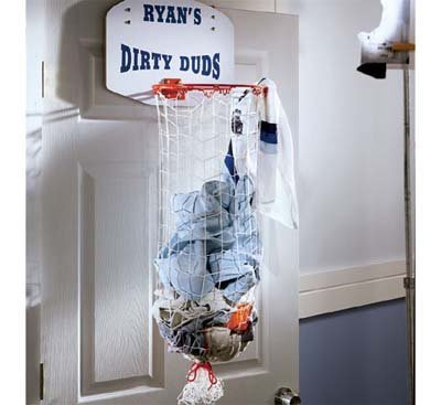 Cesta a modo de canasta para la ropa sucia