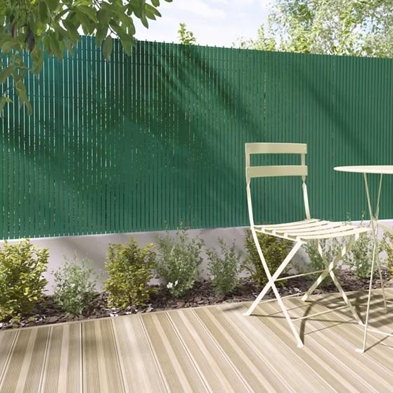 Valla de PVC verde