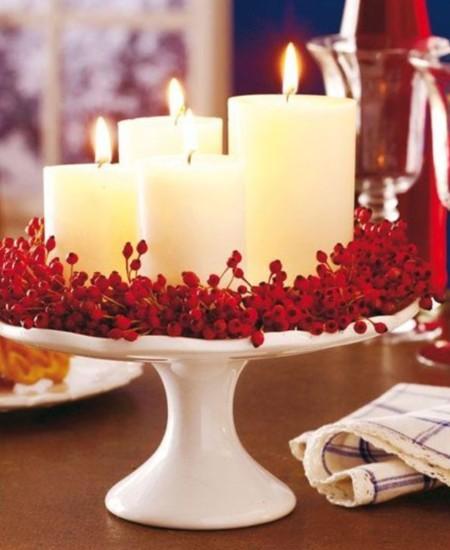 Una navidad sin velas no es navidad 18 ideas luminosas - Centros navidenos con velas ...
