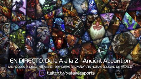 """Ancient Apparition en directo con la sección """"Dota 2 de la A a la Z"""" a las 22:00 horas (las 15:00 en Ciudad de México) [Finalizado]"""
