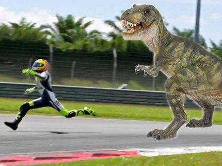 Mucha guasa con la caída de Valentino Rossi