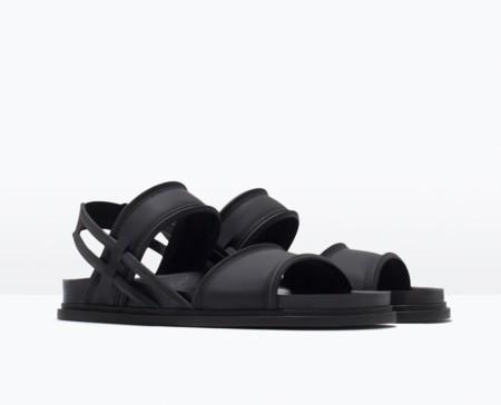 Sandalias de textura engomada