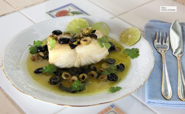Bacalao a la mantequilla de olivas