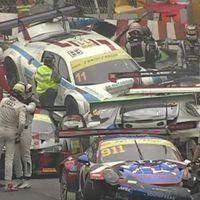 ¡Impresionante accidente en Macao! Una montonera deja fuera a doce pilotos