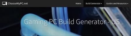 ChooseMyPc, ayuda para configurar tu próximo PC para juegos