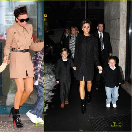 Los looks de Victoria Beckham en Roma y Milán
