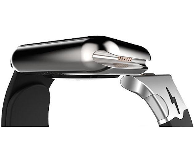 Esta correa usa el misterioso puerto del Apple Watch para cargar su batería
