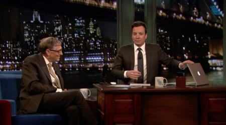Ese momento (divertidamente) incómodo en el que Bill Gates descubre que Jimmy Fallon utiliza Mac