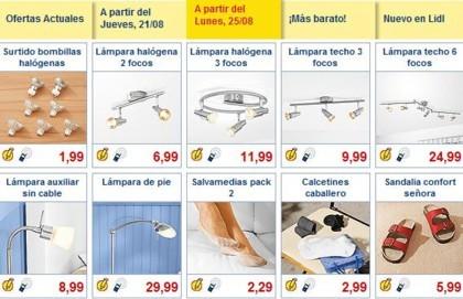 Catálogo de Lidl: iluminación