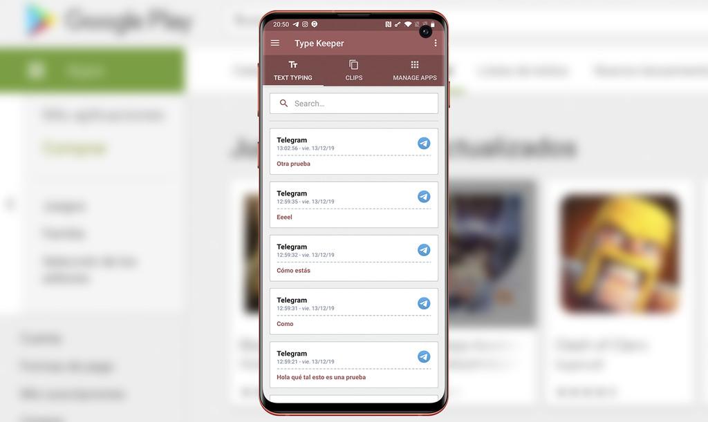 Type Keeper: un portapapeles universal para tener alguna copia de seguridad de todo lo que escribes en usted teléfono
