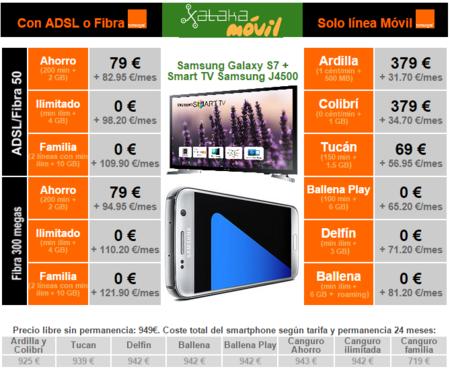 Precios Samsung Galaxy S7 Tv Con Orange