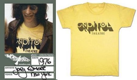 Reproducciones de camisetas utilizadas por estrellas de rock