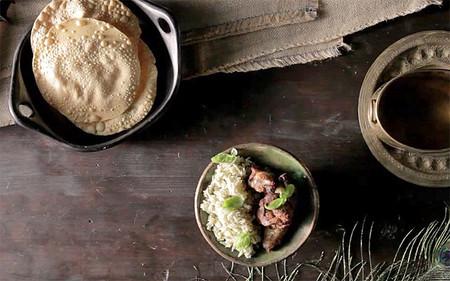 Pollo Tikka Massala con arroz basmati al curry verde [videoreceta]