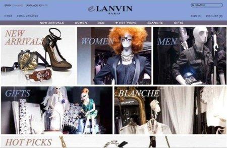 Lanvin lanza su tienda en línea para Europa