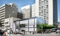 Imagen de la semana: Apple añade puertas gigantescas a su futura tienda flasghip de San Francisco