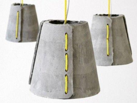 Lámparas colgantes de hormigón