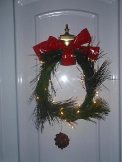 Guirnalda navideña hecha a mano