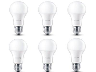 Pack de seis bombillas LED Philips por 14,68 euros