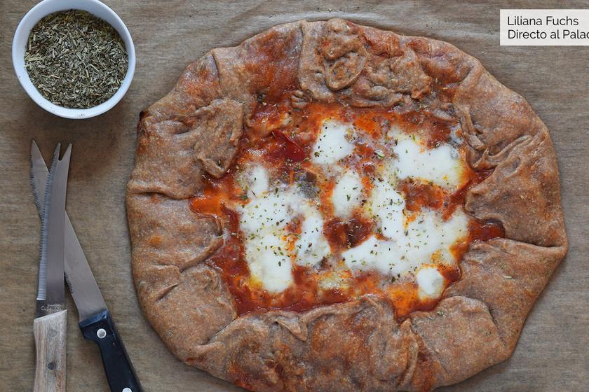Galette integral de pisto y mozzarella: receta con y sin Magimix Cook Expert