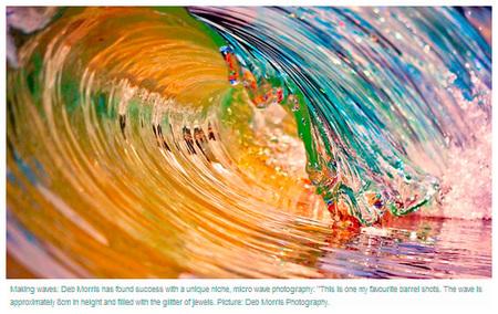 Fotografías de olas en miniatura, de Deb Morris