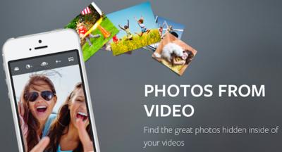 Transforma tus videos en fotografías con Vhoto