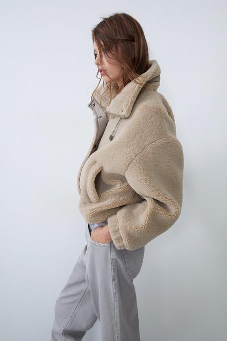 Zara Abrigo Peluche Otono 2019 23