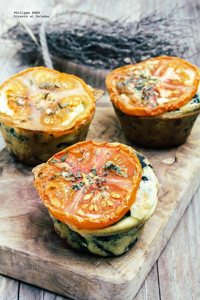 Muffins de espinacas y mozzarella: receta vegetariana