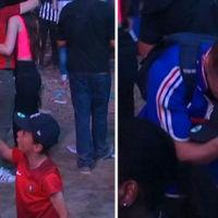 Un niño protagonizó el momento más emocionante de la Eurocopa al animar a un aficionado rival que lloraba