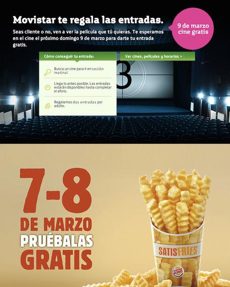 """Llega la cultura de lo """"gratis"""" con Movistar y Burger King"""