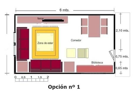 C mo distribuyo mi sal n decoesfera responde for Como decorar un salon rectangular