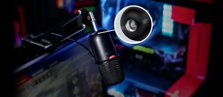 El micrófono Hyperx SoloCast se puede colocar en un brazo