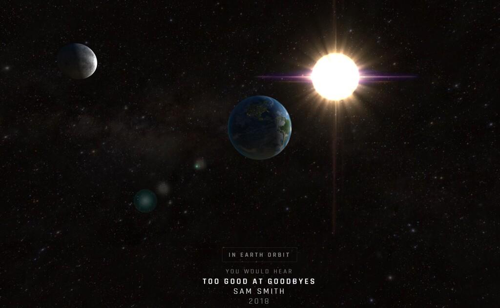 Viaja a través del espacio escuchando cuán lejos están llegando éxitos musicales de todos los tiempos con esta web
