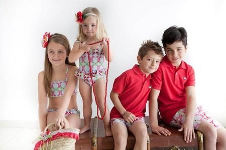 Moda Primavera/Verano 2014 para bebés y niños: la moda baño más tendencia