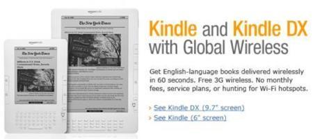 Amazon Kindle DX el 19 de Enero en España a 489 dólares