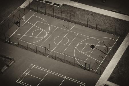 Campo Baloncesto Vacio