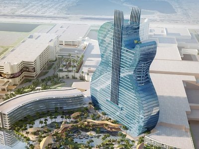 Un rascacielos con forma de guitarra: el nuevo Hard Rock Hotel & Casino en Hollywood