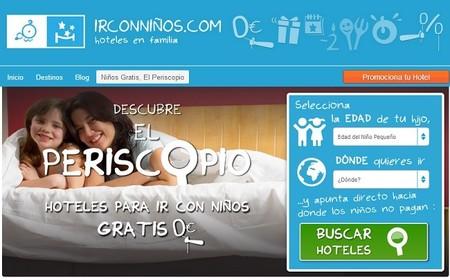 El Periscopio de Ir con niños, o cómo encontrar alojamiento gratuito para los peques en los hoteles
